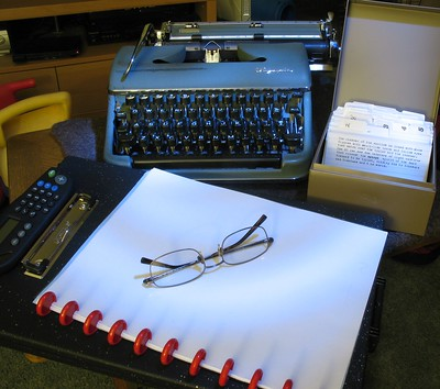 Random picture of a typewriter. Image used by CC licence. Link to original flickr page